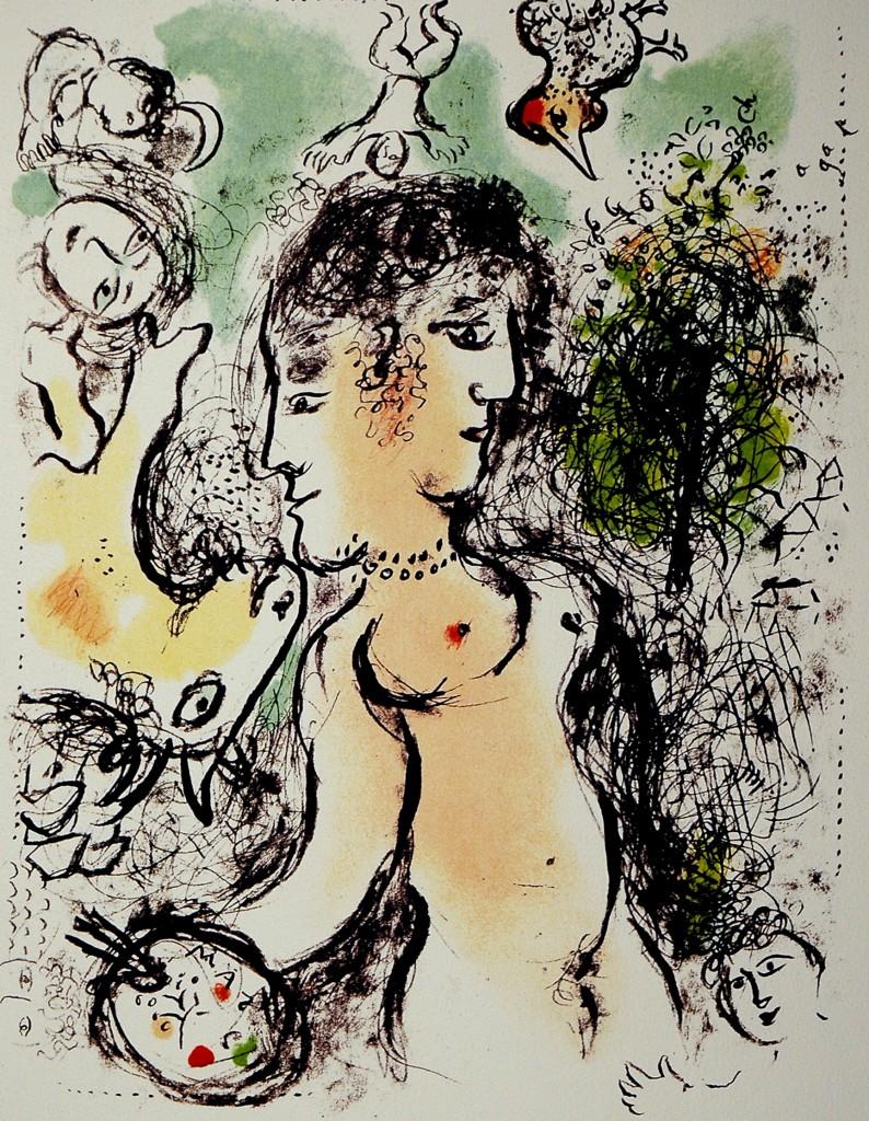 Chagall Marc litografia a colori